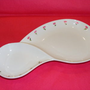"Plat porcelaine collection ""Roses roses"""
