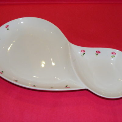 """Plat double porcelaine collection """"Roses roses"""""""