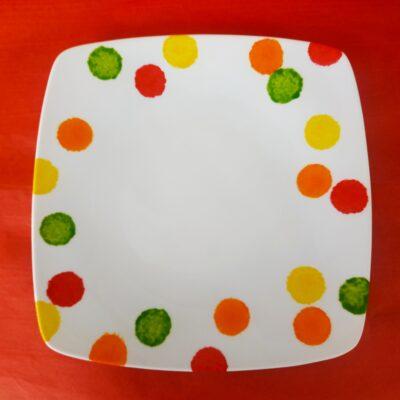 Grande assiette plate carrée
