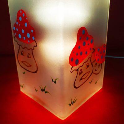 Lampe en verre dépoli