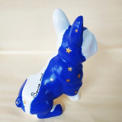 Vue arrière chien déco en céramique