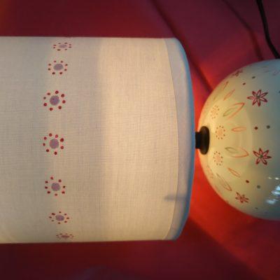 Lampe boule allumée