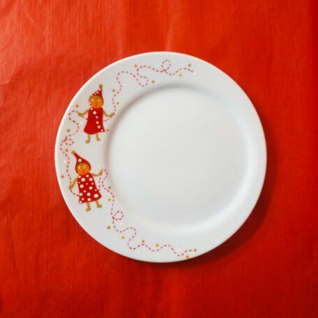 Assiette à dessert fond rond excentré