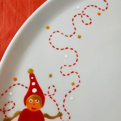 Détail plat rond à tarte