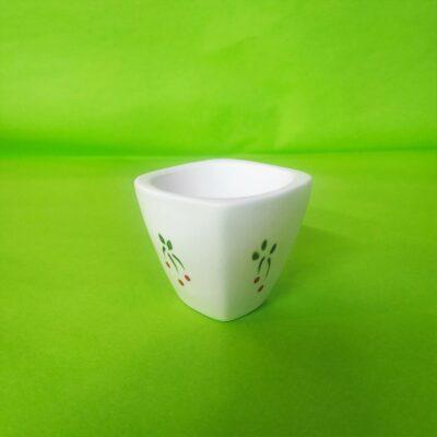 Vue oblique mini coquetier carré