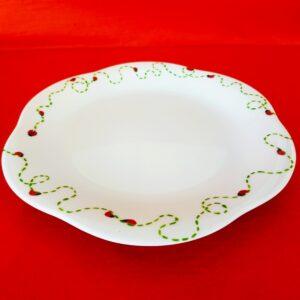 Autre vue petite assiette à dessert forme fleur